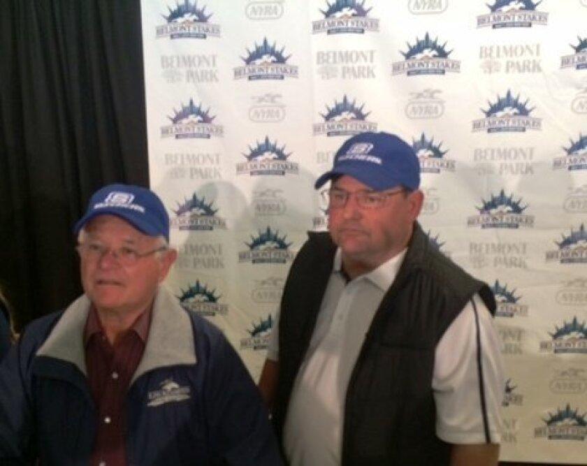 Art and Alan Sherman address media at Belmont Stakes.