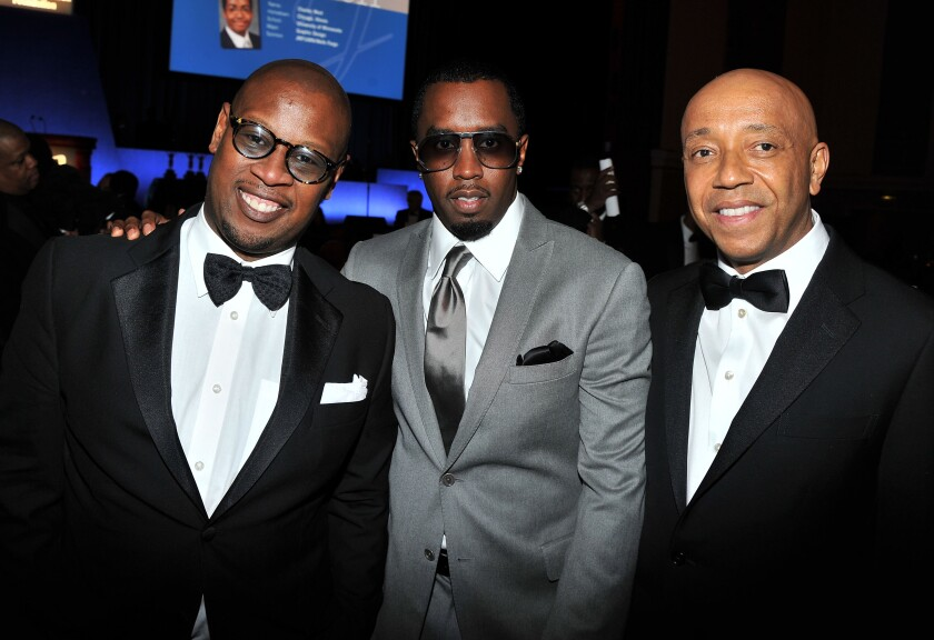 """Andre Harrell, Sean """"Diddy"""" Combs, Russell Simmons"""