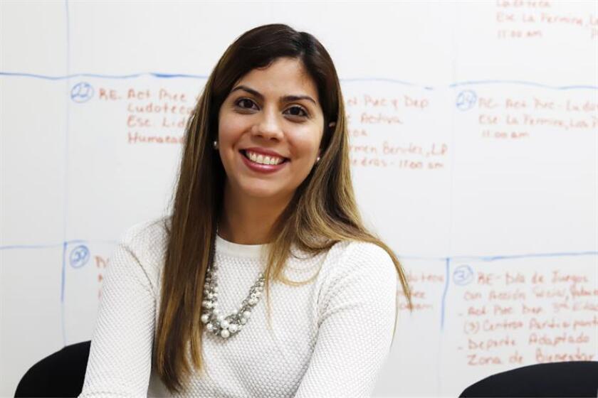 La secretaria del Departamento de Recreación y Deportes (DRD) de Puerto Rico, Adriana Sánchez, posa para Efe durante una entrevista. EFE/Archivo
