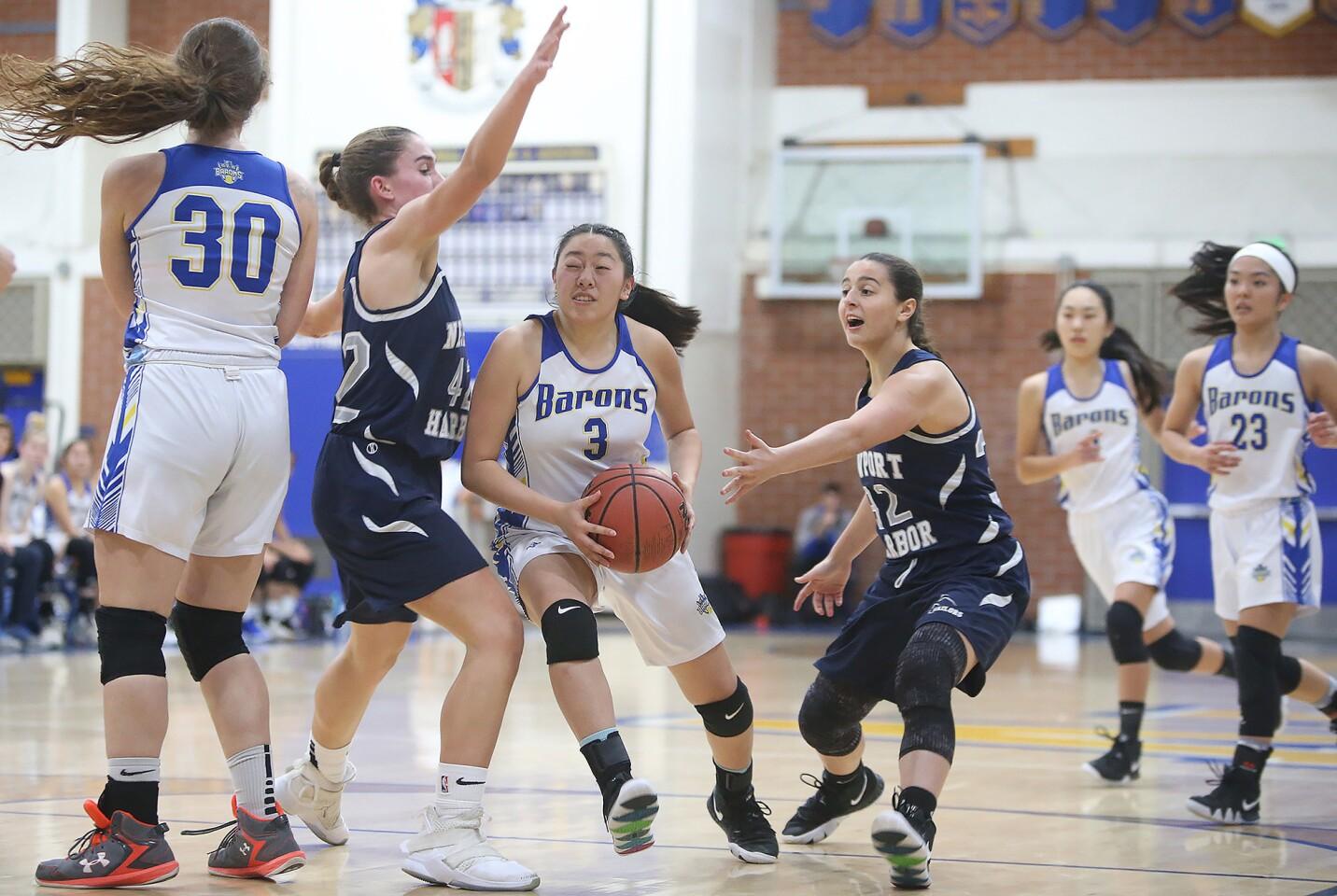Photo Gallery: Newport Harbor vs. Fountain Valley in girls' basketball