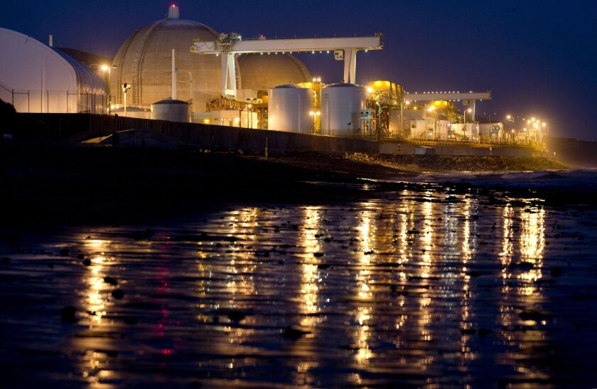 The now defunct San Onofre nuclear power plant is seen along the Pacific Ocean coastline in San Onofre in 2012.