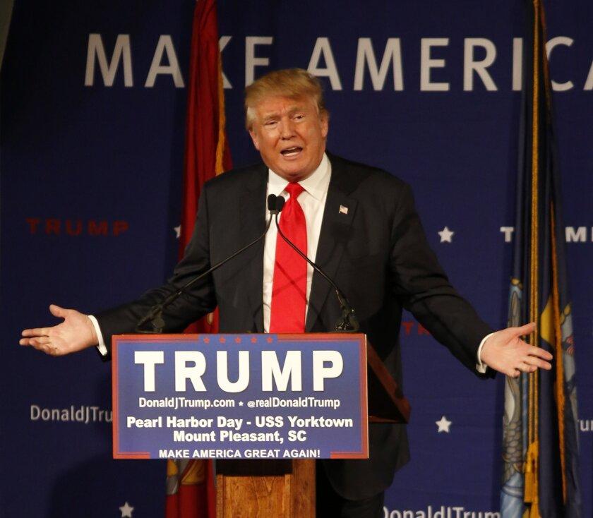 Donald Trump speaks