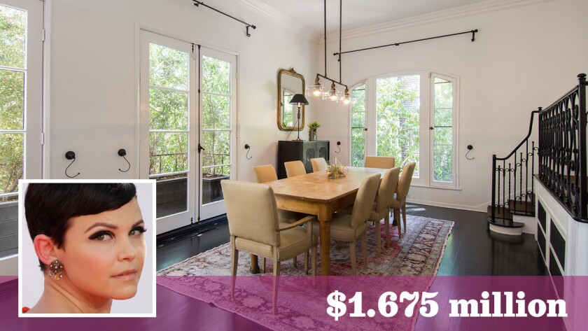 """""""Once Upon a Time"""" star Ginnifer Goodwin has sold her celebrity-pedigreed home in the Whitley Heights area of Los Angeles for $1.675 million — $276,000 over her asking price."""