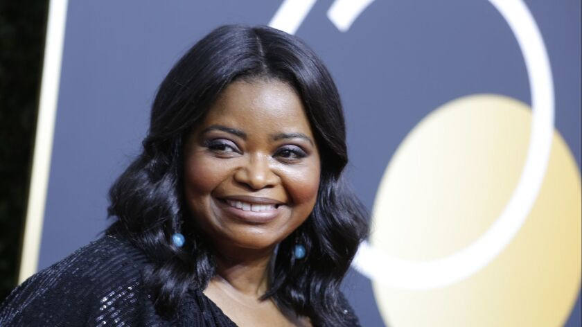 BEVERLY HILLS, CA - January 7, 2018 Octavia Spencer arriving at the 75th Golden Globes at the Bev