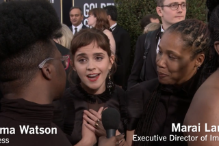 Why did you wear black to the Golden Globes?