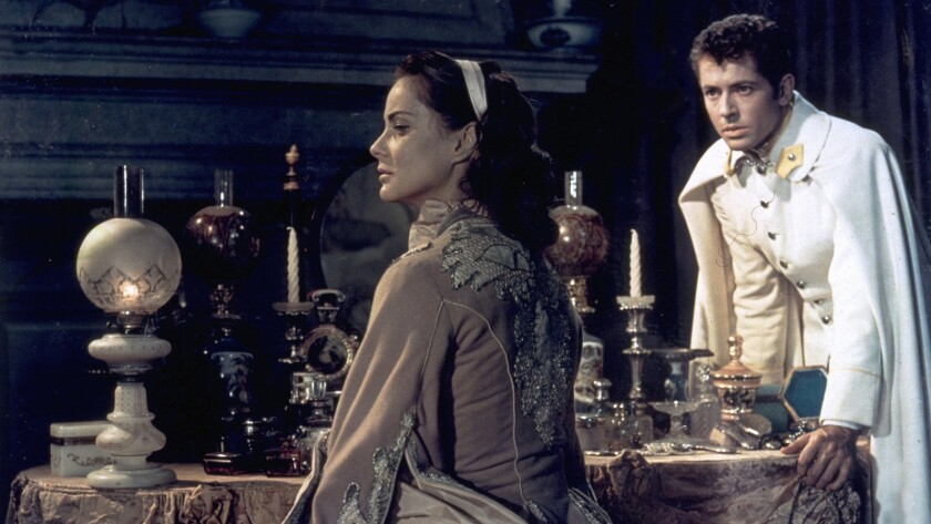 "Alida Valli and Farley Granger in Luchino Visconti's 1954 film, ""Senso."""