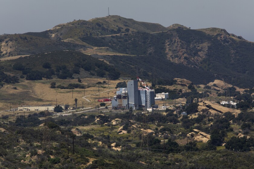 The Santa Susana Field Laboratory as seen from a ridgeline in unincorporated Ventura County.