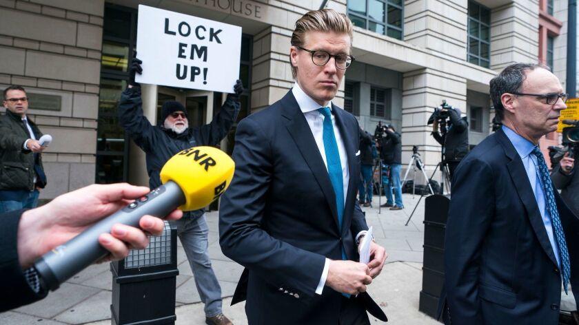 Attorney Alex Van Der Zwaan sentenced in Federal Court, Washington, USA - 03 Apr 2018