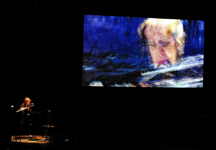 "Jean-Baptiste Barriere performs ""A Visual Concert"" at UCLA on Sunday night."