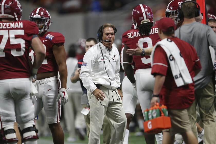 Coach Nick Saban turned 66 on Tuesday, the same day he found out the Crimson Tide are ranked No. 2 in the College Football Playoff rankings.