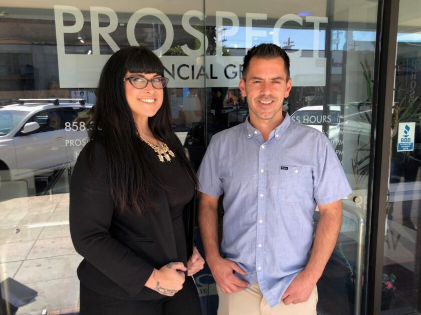 Prospect Financial Group President Christine Schindel, left, and CEO Jason Vondrak, right.
