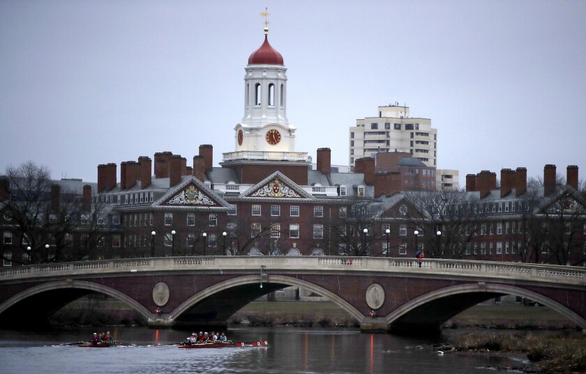 International students are expected to make up 12.3% of the 1,950 students in Harvard's class of 2023.