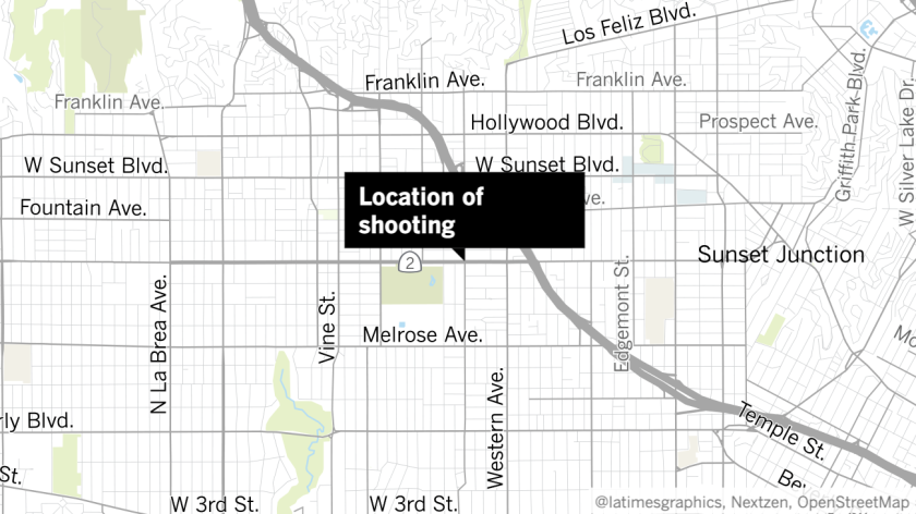 An LAPD officer was shot Wednesday in Hollywood.