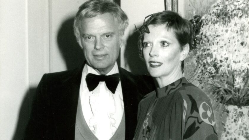 Harry Lewis with wife Marilyn. They are owners of the Hamburger Hamlet chain.