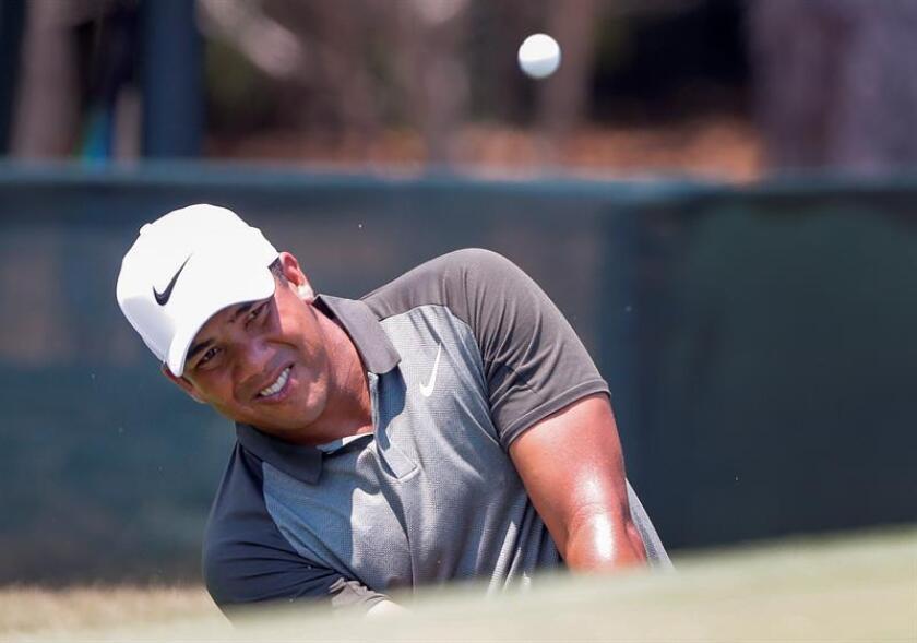 En la imagen un registro del golfista venezolano Jhonattan Vegas, quien disputará su segundo US Open. EFE/Archivo