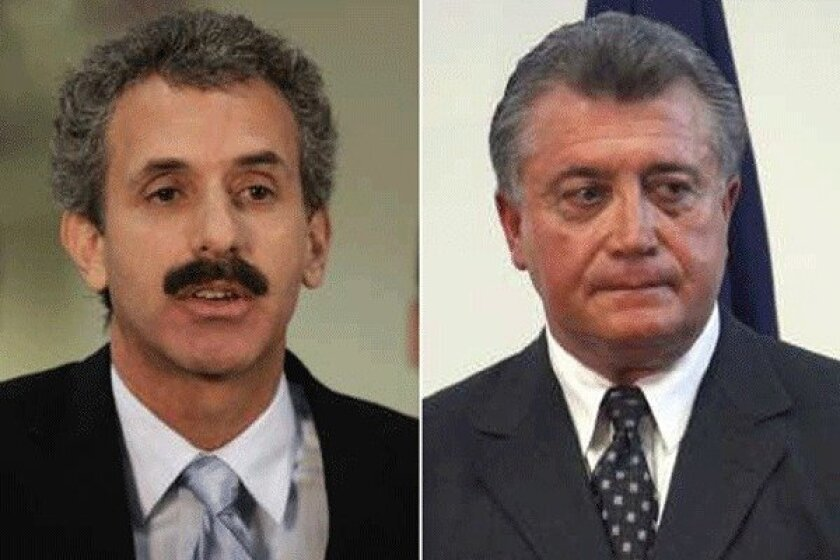Assemblyman Mike Feuer, left, is running for L.A. city attorney against incumbent Carmen Trutanich.