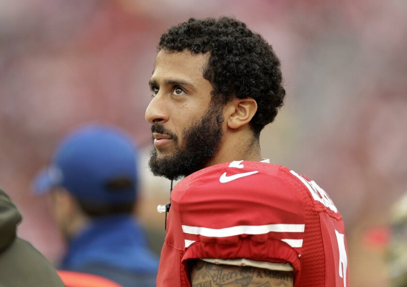 San Francisco 49ers quarterback Colin Kaepernick during a game against the Atlanta Falcons last fall.