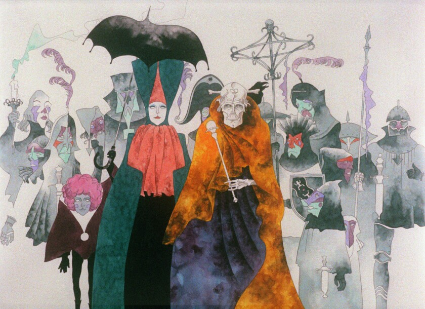 """An image from the 1973 Japanese animated movie """"Belladonna of Sadness."""""""