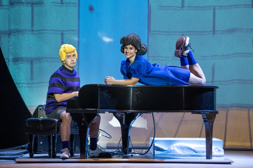 "A scene from ""A Charlie Brown Christmas Live Onstage."""