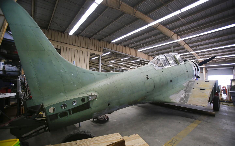 WWII Douglas SBD-1 dive bomber restoration