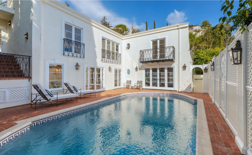 Hollywood Regency-style home