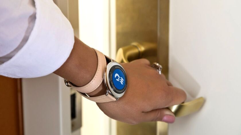 Passengers can unlock their stateroom doors with the Ocean Medallion, a high-tech wearable that bear