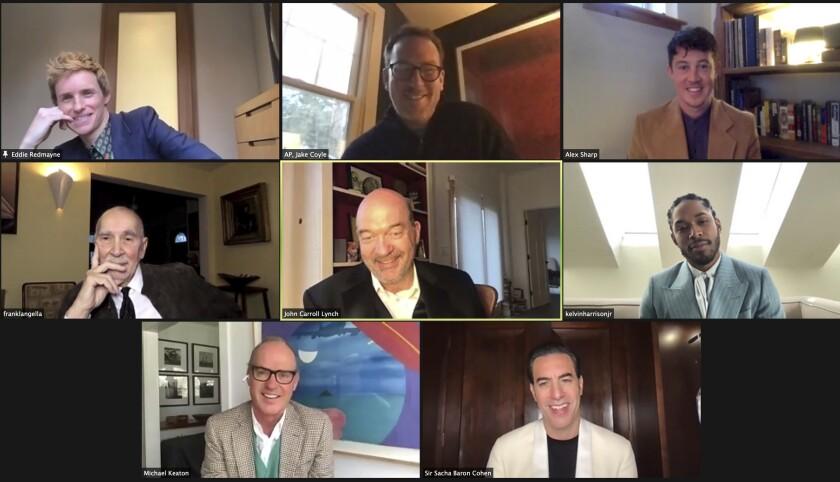 Eddie Redmayne, Alex Sharp, Frank Langella, John Carroll Lynch, Kelvin Harrison Jr., Michael Keaton y Sacha Baron Cohen