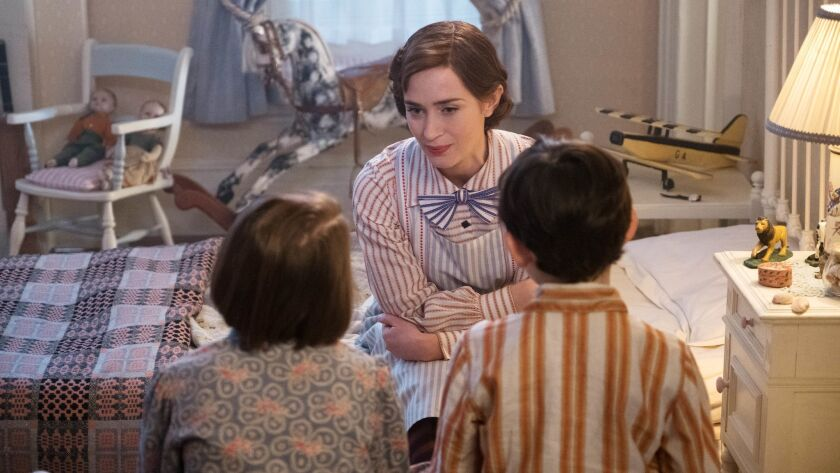 Emily Blunt is Mary Poppins in Disney's MARY POPPINS RETURNS, a sequel to the 1964 MARY POPPINS , w