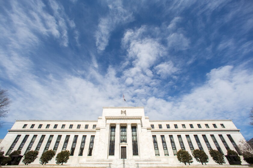 The Federal Reserve's headquarters in Washington in March 2014.