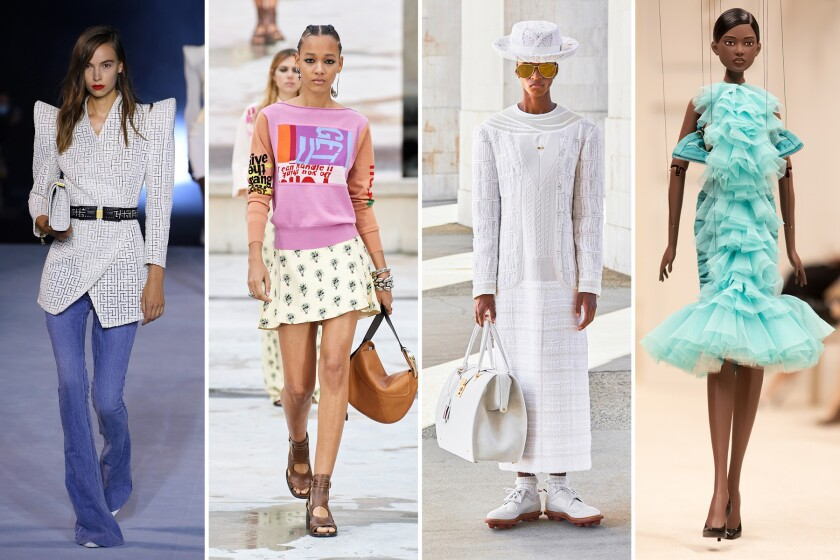 Paris Milan Fashion Week Spring Summer 2021 Collections Los Angeles Times