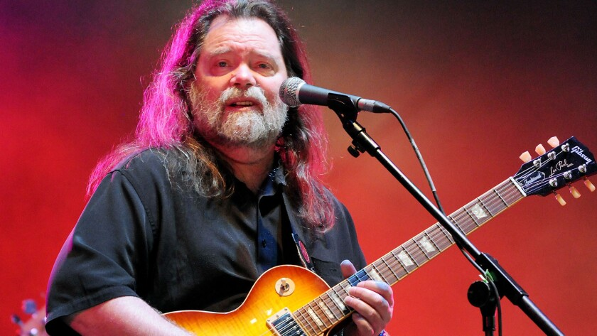 Roky Erickson performs on the third day of the Wireless Festival at Hyde Park in July 2011 in London.