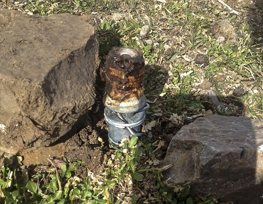 A cyanide device in Pocatello, Idaho, where a boy accidentally set one off, killing his dog.