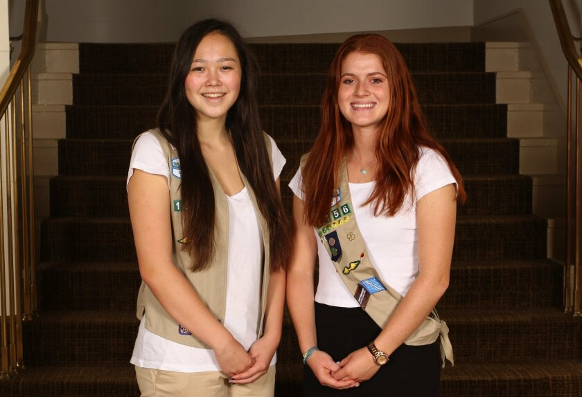 Samantha Griffith (left) and Michelle Temby of Carmel Valley have earned the Girl Scout Gold Award for taking action in their community through outstanding leadership projects.