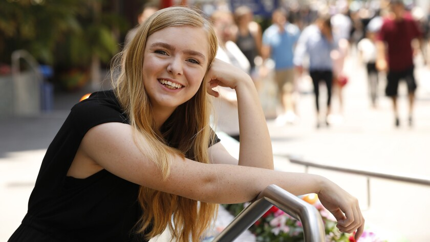 "LOS ANGELES, CA – JULY 17, 2018: Elsie Fisher, the15-year-old star of Bo Burnham's film ""Eighth G"
