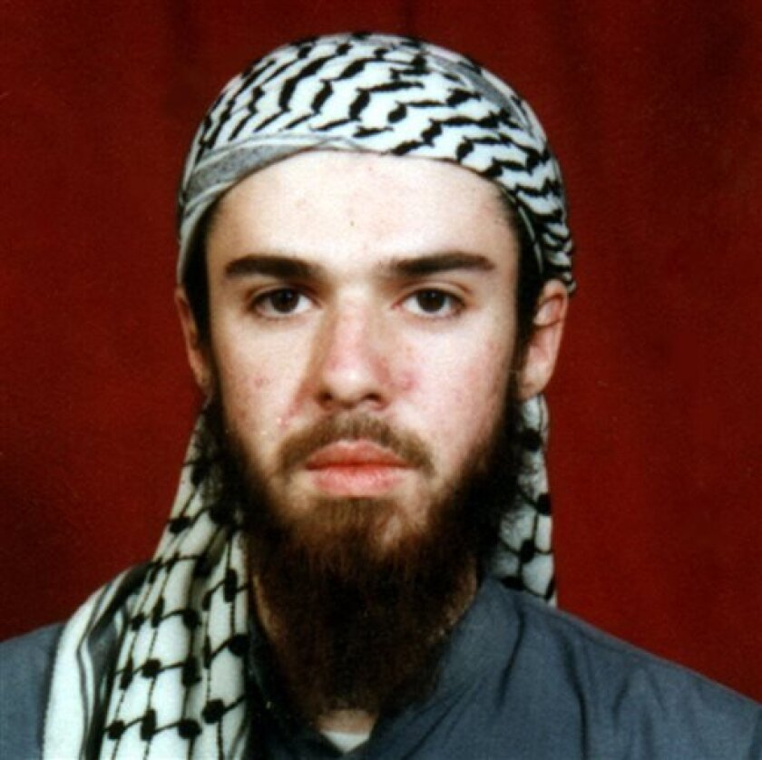 FILE - This  undated file photo obtained from a religious school where he studied for five months in Bannu, near Islamabad, Pakistan shows American-born Taliban fighter John Walker Lindh. Lawyers for Lindh asked a federal judge Wednesday, April 10, 2013, to find the Federal Bureau of Prisons in con