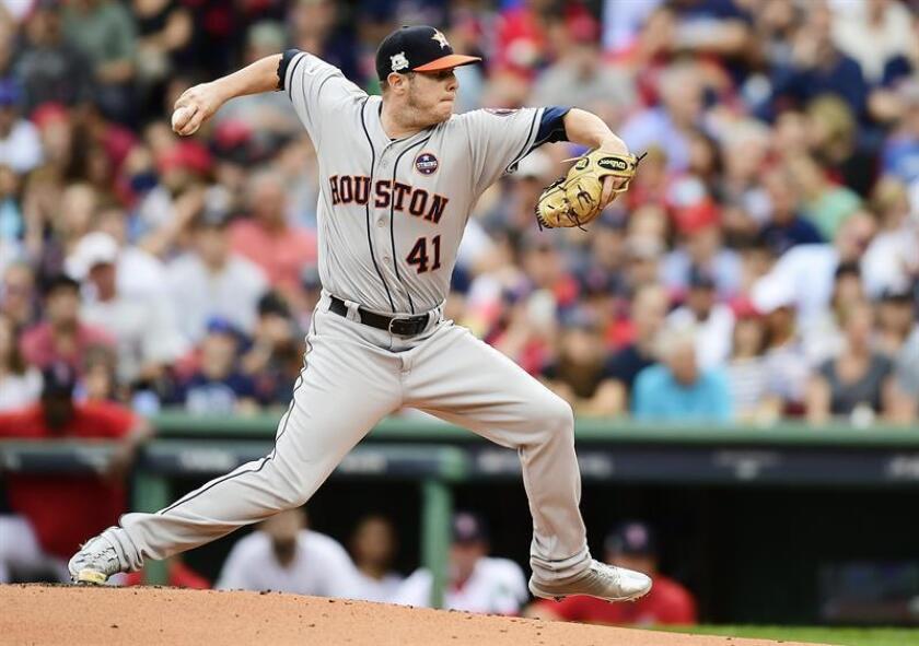 Brad Peacock, relevo de los Astros de Houston. EFE/Archivo