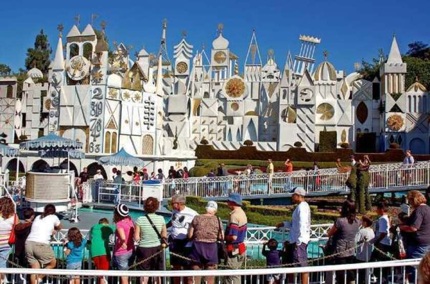 It's a Small World -- but a long line -- at Disneyland.