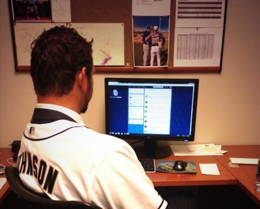 If Josh Johnson is half as good at pitching next year as he was on Twitter Wednesday, watch out Padres fans.