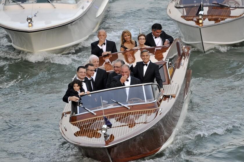 George Clooney en route to his wedding