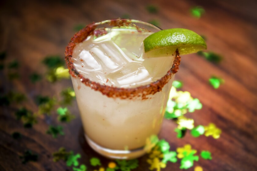 Irish and Mexican flavors will mingle in El Chingon's St. Patrick's Day cocktail Irishman Abroad.