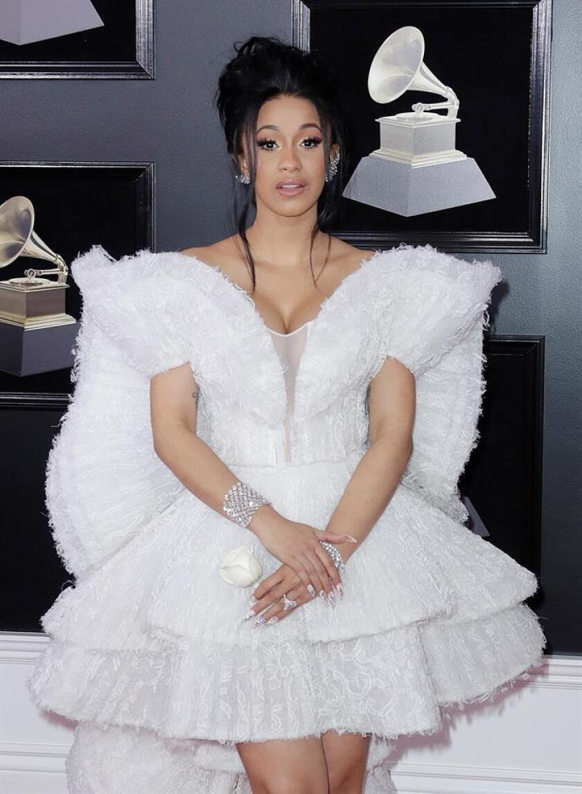 Cardi B arrives for the 60th annual Grammy Awards ceremony at Madison Square Garden in New York, New York, USA. EFE/EPA/Archivo
