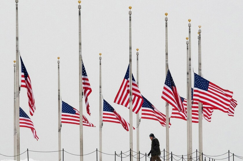 Flags at half-staff for Justice Scalia