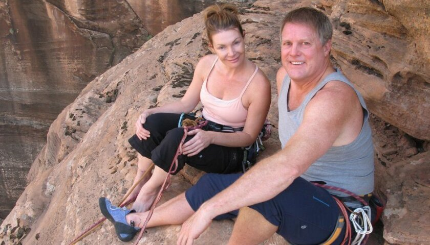 Invitrogen founder Lyle Turner and now-wife Alison during a 2008 visit to Zion National Park.