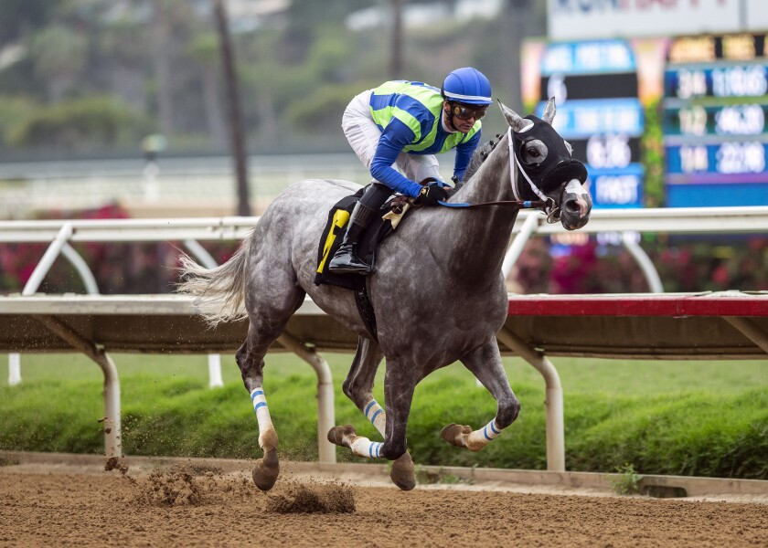None Above the Law, with Flavien Prat aboard, wins the $175,000 Real Good Deal Stakes on Friday.