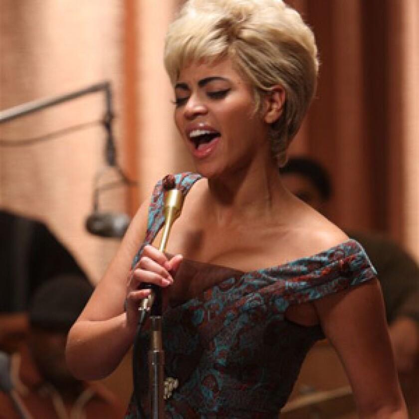 Beyoncé Knowles channels Etta James, at least in voice.