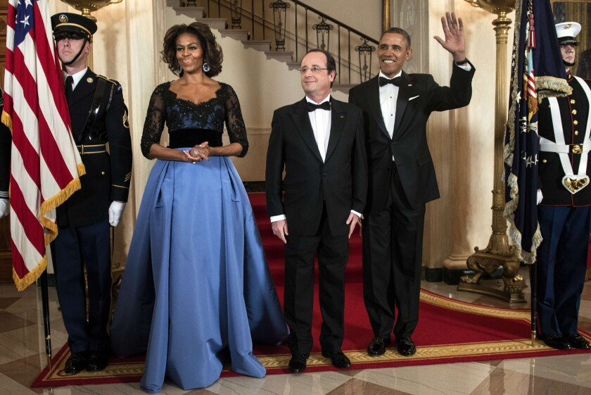 First Lady Michelle Obama in Caroline Herrera gown