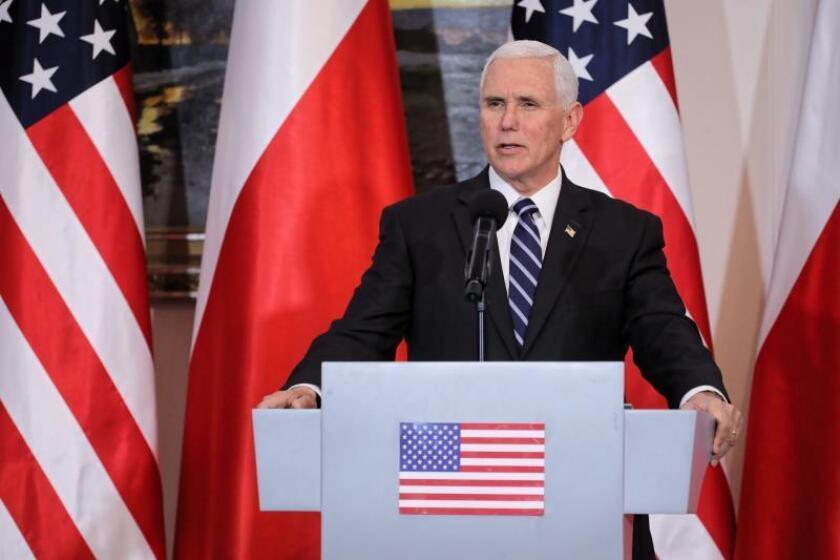 fotografía de archivo del vicepresidente estadounidense, Mike Pence. EFE/ Pawel Supernak PROHIBIDO SU USO EN POLONIA