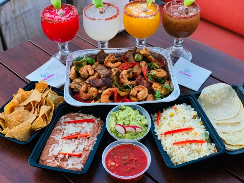 The takeout Mother's Day meal special from Karina's Mexican Seafood Cuisine.
