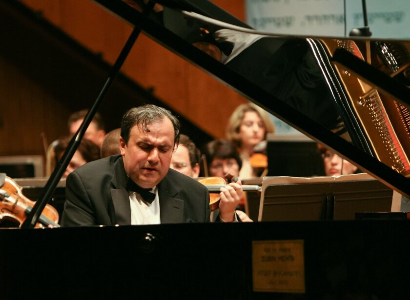 Pianist Yefim Bronfman (from a previous performance elsewhere). Photo: Oded Antman