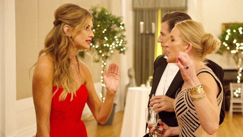 "Ashley Jacobs, left, Thomas Ravenel, Jennifer Snowden in ""Southern Charm"" on Bravo."